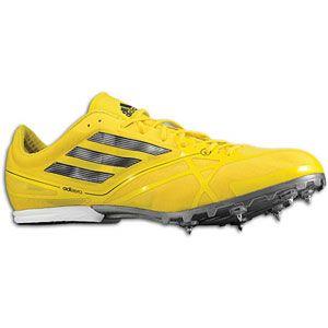 adidas adiZero MD   Mens   Track & Field   Shoes   Vivid Yellow/Black