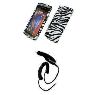EMPIRE Black and White Zebra Stripes Rubberized Design Hard Case Cover
