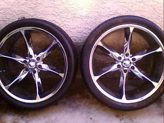 24 inch Rims and Tires All 4 Rims Tires Included