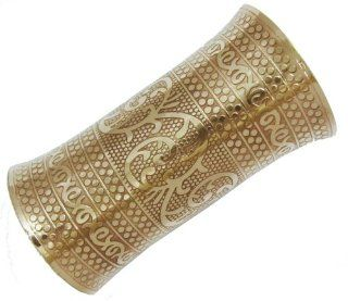 Iba New 6 Large Gold Tone Brass Cuff Bracelet Women Fashion Jewelry