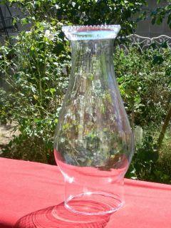 Hurricane Clear Glass Lamp Shade Chimney Globe 3 Fit