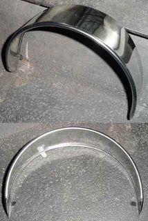Harley Style Stainless Steel Headlight Visor for Motorcycles E