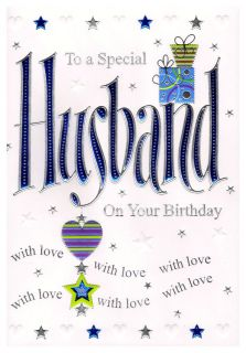 Z00115 to A Special Husband Birthday Greeting Card