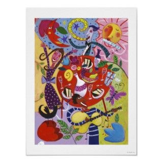 Abstract Party Scene Print