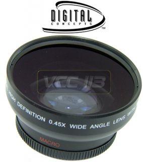 45X Wide Angle Lens for Canon VIXIA HV20 HG10 HV40 HV30 WD H43