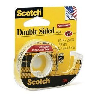 Scotch 136   665 Double Sided Office Tape w/Hand Dispenser