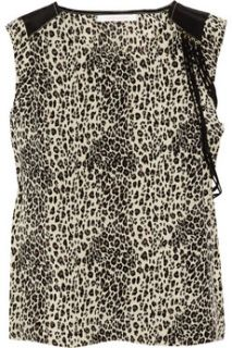 Virginie Castaway Wild leopard print silk top