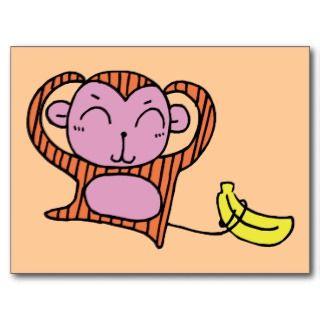 Monkey ~ Chimp Chimpanzee Ape Cartoon Primate Postcards