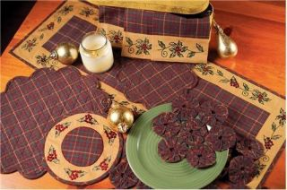 Plaid Christmas Table Runner Tablecloth Placemat Tablemat Apron