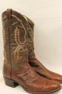 Mens Hyer Sof Brown Leaher Snakeskin Cowboy Boos Mens Size 10 5