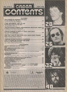 Creem Bob Seger Chrissie Hynde Paul McCartney Alice Cooper Kinks