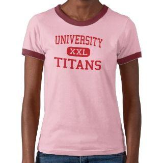 University High School Titan T Shirts, University High School Titan