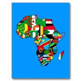 El mapa africano de las banderas de África denro Posales de