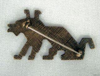 Banana Bob Vintage Verdigris Dog Pin Swarovski Crystal Rhinestone