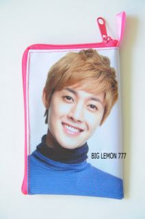 Kim Hyun Joong SS501 Zipper Mobile Phone Bag Pouch B7