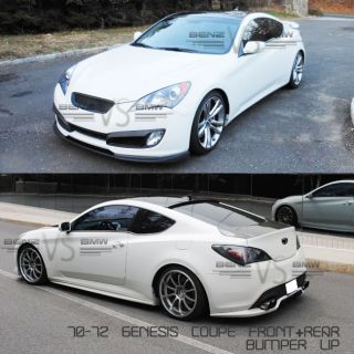 FIT FOR 10 12 HYUNDAI GENESIS COUPE SPORT FRONT + REAR BUMPER LIP