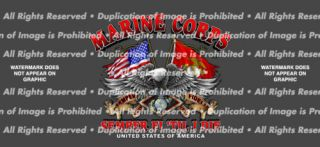Marine Corp Eagle Rear Window Vinyl Graphic Decal