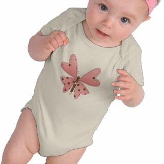 Cute as a Bug · Pink & Brown Butterfly T shirt