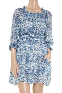 Étoile Isabel Marant Bell printed silk chiffon dress   65% Off