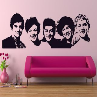 Boyband 1D House Wall Art Decor Sticker Home Design Bedroom C3