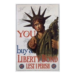 Liberty Bonds ~ Beat Back The Hun WWI Poster