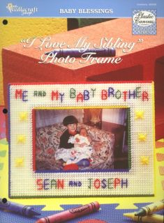 Love My Sibling Photo Frame Brother Sister PC Pattern