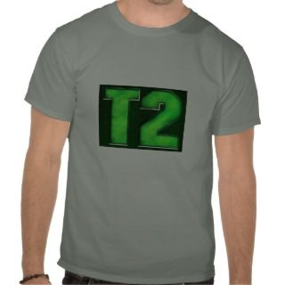 Green logo camo T shirt