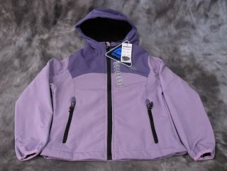 New Snozu Girls Ski Snow Jacket Hood Purple Sz M 10 12