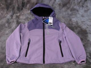New Snozu Girls Ski Snow Jacket Hood Purple Sz M 10 12