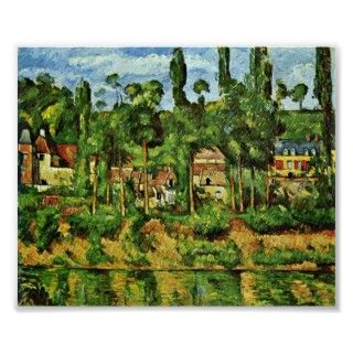 Chateau de Medan by Paul Cezanne. Great painting titled Chateau de
