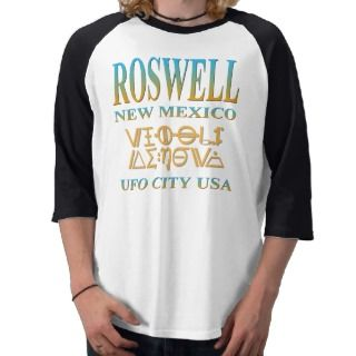Roswell UFO City   Alien Code Tees