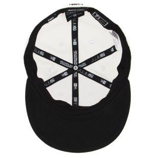 New DC Shoes Empire Mens New Era Sport White Cap Hat Size 7 3 4 61 5