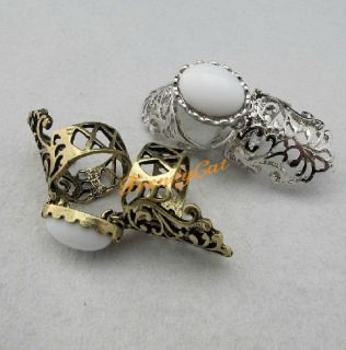 Vintage Armour Pearl Knuckle Rings Punk Copper Hippie Retro Women Boho