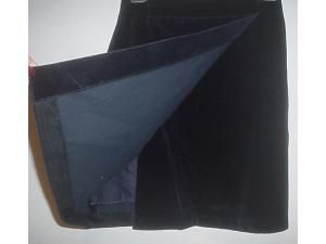 Pinco Pallino Navy Blue Velvet Skirt Suit Girls 12