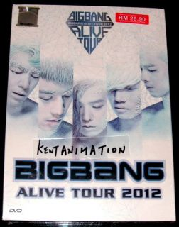 DVD BIGBANG Alive Tour 2012 Big Bang