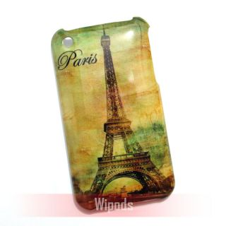 Eiffel Tower Designer Hard Back Case Cover Skin for Apple iPhone 3GS