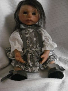 OOAK Polymer Clay Baby Girl Art Doll 10 inch Ciao