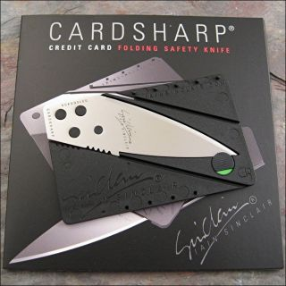 Iain Sinclair Cardsharp 2 Credit Card Folding Safety Razor Sharp Knife