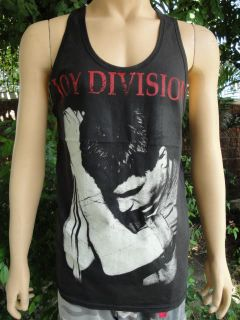 Ian Curtis Joy Division Rock Black Tank Top T Shirt L