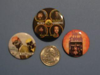SABBATH vintage pins buttons badges Lot of 3 RARE htf OZZY Ian Gillan
