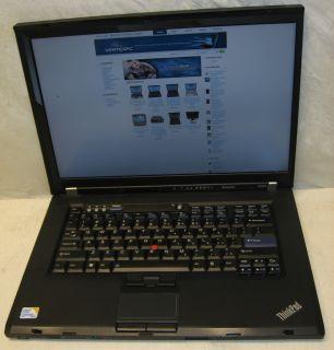 IBM Lenovo Laptop Notebook W500 Dual Core 2 Duo 2 53GHZ 320GB 2GB