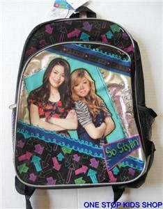 iCarly Girls School Bag Backpack Tote I Carly Nickelodeon Sam