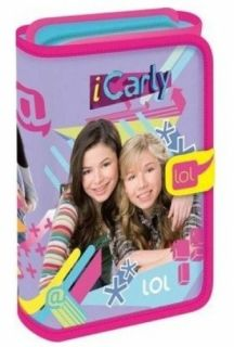 iCarly Fold Out Filled Pencil Case Girls School College Stationary New