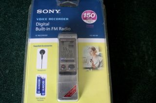 Sony ICD B510F 256 MB 150 Hours Handheld Digital Voice Recorder