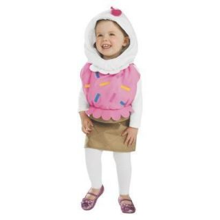 NEW INFANT TODDLER Girl ICE CREAM SCOOP CONE HALLOWEEN COSTUME size
