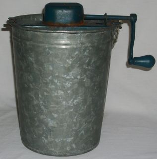 Vintage Klondike Freezer Ice Cream Maker Crank Metal Kitchenware