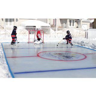 Backyard Ice Skating Hockey Rink Shiny Smooth Ice Large 50 x 25 with