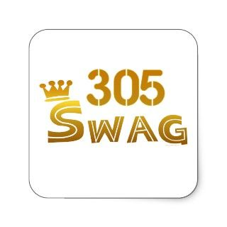 305 Florida Swag Stickers