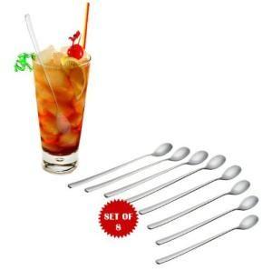 Iced Tea Coffee Lemonade Ice Cream Spoons Set of 8