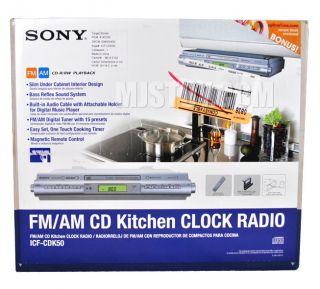 New Sony ICF CDK50 Undercabinet Clock Radio ICFCDK50